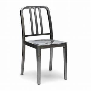 Style Steel Navy Chair Stackable