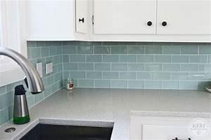 Blue sea glass tile kitchen backsplash fres hoom for Sea glass backsplash kitchen