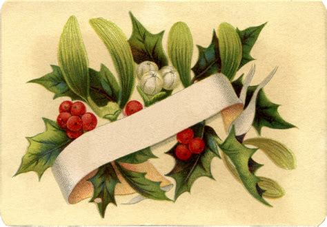 gorgeous christmas holly label  graphics fairy