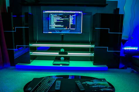 Stunning Gaming Setup Ideas With Green And Blue Lighting