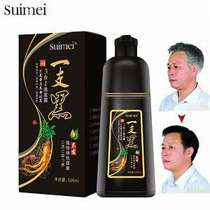 Extract Organic Ginseng Hair Coloring Shampoo Anti Allergic No Side Effect Fast Black Hair Dye