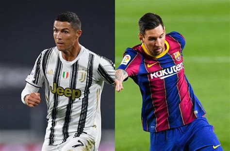 Ronaldo vs Messi comparison in build-up of Juve vs Barca ...