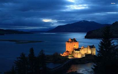 Scotland Castle Landscape Desktop Scottish Background Wallpapers