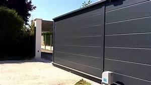 moteur portail electrique la structure ou les lames de du With porte de garage avec portillon integre leroy merlin
