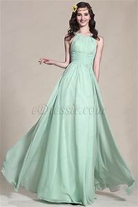 edressit halter neck mint evening dress bridesmaid dress With robe vert pastel
