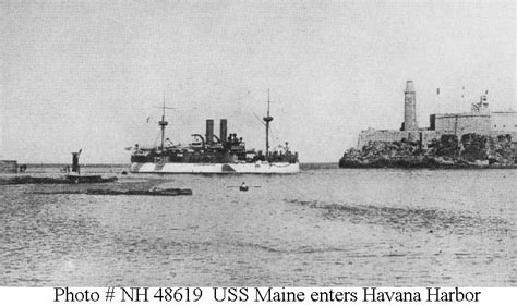 events sinking of uss maine