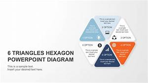Six Steps Triangle Hexagon Powerpoint Diagram