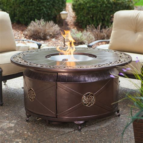 pit table burner patio deck outdoor fireplace propane