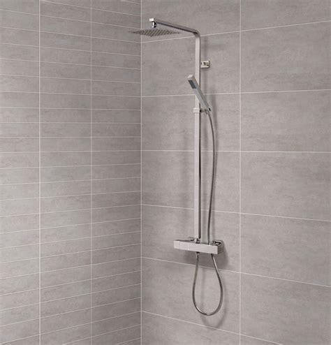 How To Remove Shower Riser Rail - deluxe square riser slide shower rail kit with valve
