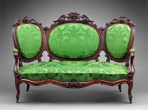 sofa   rococo revival parlor set museum  fine