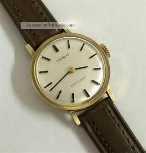 Vintage Uhren Damen : vintage tissot stylist 14k 585 gold handaufzug damen uhr werk cal 709 2 ~ Watch28wear.com Haus und Dekorationen