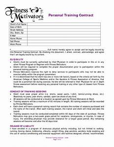 Personal training contract agreement dexmediaco for Exercise contract template