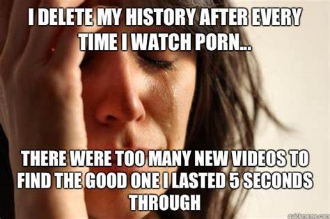 Hate To Search Clear i delete my history after every time i watch porn