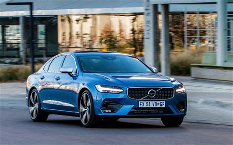 Volvo S90 4k Wallpapers by Wallpapers Volvo S90 R Design 2018 Blue S90