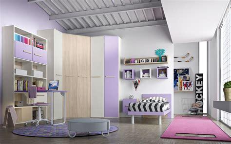 armadio angolare con cabina cameretta con cabina armadio e un letto completa di zona