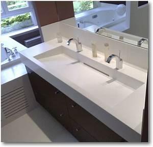 cuisine corian salle de bain corian crea diffusion With salle de bain design avec plan vasque double 120 cm