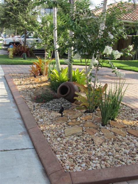 Backyard Landscaping Ideas With Rocks by Rock Garden Tropical Landscape Miami
