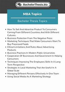 marketing thesis examples
