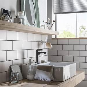 Faience Metro Blanc : fa ence mur blanc blanc astuce x cm leroy merlin ~ Farleysfitness.com Idées de Décoration