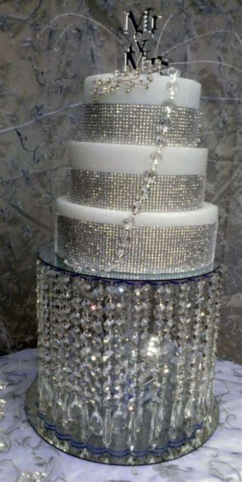 wedding crystal acrylic cake stand tradesy weddings