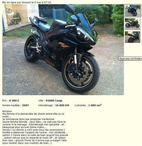 leboncoin cuisine un motard vend sa moto ou sa femme au choix sur le bon