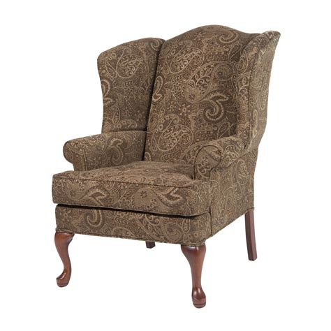 comfort pointe 7000 0 paisley upholstered accent wing back
