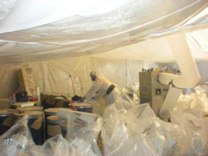 mold remediation asbestos removal services interior