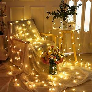 16, 4ft, led, star, string, lights, , battery, operated, twinkle, light, , indoor, , outdoor, waterproof