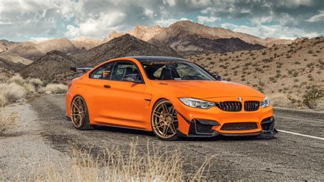Ferrada Sema Orange Bmw M4 5k Wallpaper Hd Car Wallpapers