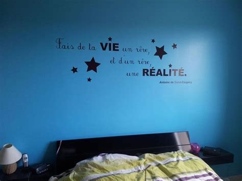 taille minimum chambre sticker citation fais de ta vie un rêve et d 39 un rêve