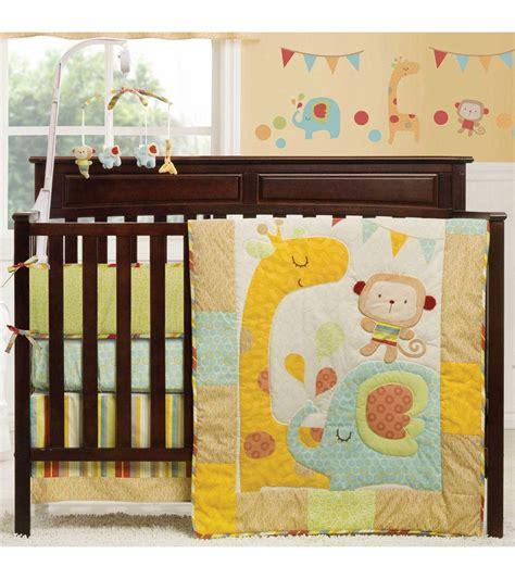 jungle crib bedding set graco jungle friends 4 crib bedding set by kidsline