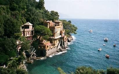 Italian Wallpapers Screensavers Genoa Portofino Locality Photographs