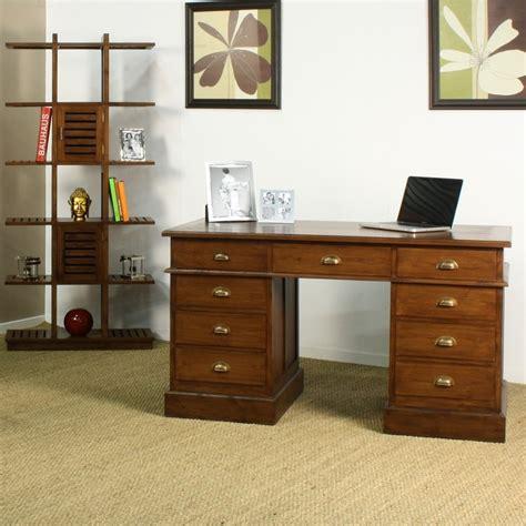 bureau ministre bureau ministre in line en teck en vente chez origin 39 s meubles