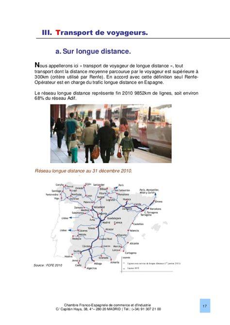 chambre de commerce espagnole en le marché ferroviaire en espagne 2013 chambre franco