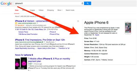 iphone 6 facts with apple s help search gets special info boxes