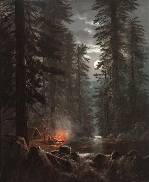 Century Tile by Edwin Deakin Campfire In The Redwoods 1876