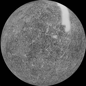 Mercury Shaded Relief Map