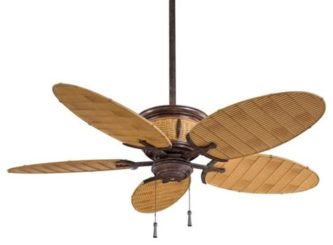 Wicker Ceiling Fans Home Depot by Minka Aire Shangri La 1 Light Vintage Rust Bamboo Outdoor