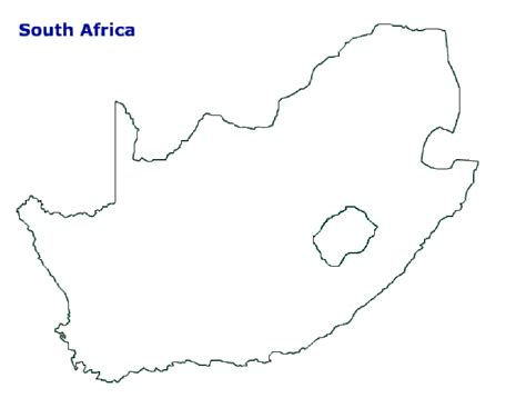 map  south africa terrain area  outline maps