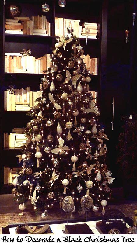 decorate  black christmas tree christmas