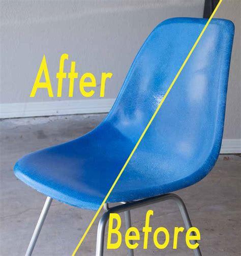eames fiberglass shell chair restoration part 1