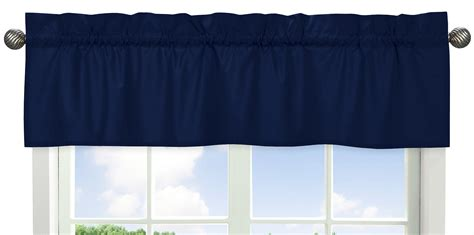 Blue Gray Valance by Sweet Jojo Designs Solid Navy Window Valance For Navy Blue