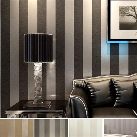 modern black wallpaper striped purple  silver glitter
