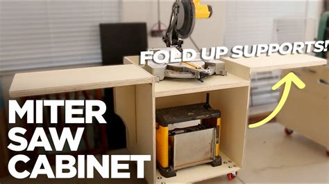 rolling miter  cabinet  folding support wings