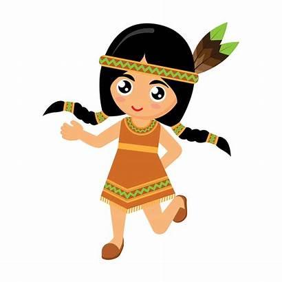 Indian American Dance Native Vector Cartoon Clip