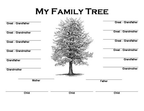 Free Family Tree Template by Best Photos Of Print Blank Family Trees Templates Blank