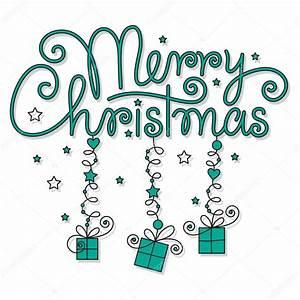 Merry Xmas Schriftzug : frohe weihnachten hand schriftzug stockvektor milyana 14294765 ~ Buech-reservation.com Haus und Dekorationen