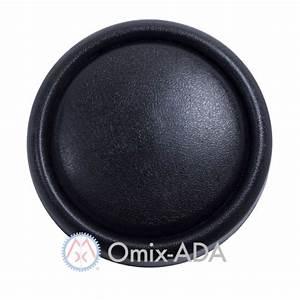 18033 01 Black Horn Button Cap  Steering Wheel  1976