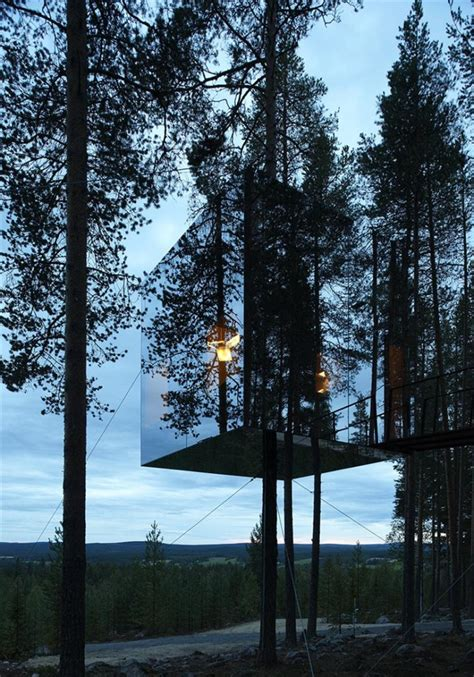 unique unusual tree hotel harads sweden  beautiful houses   world