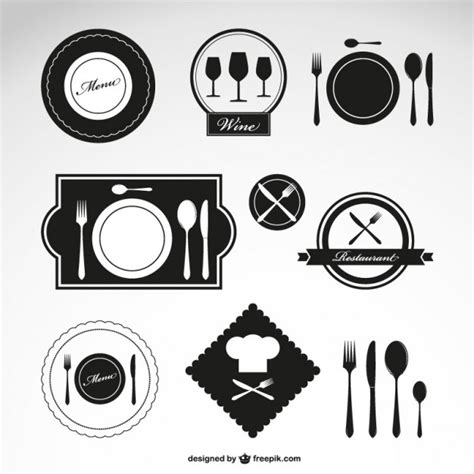 cuisine logo fork vectors photos and psd files free